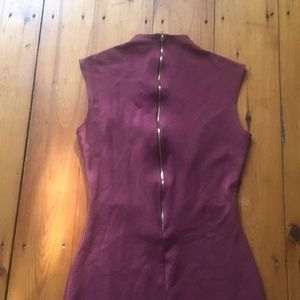 Rollar Coster dusky rose/mauve bodycon dress